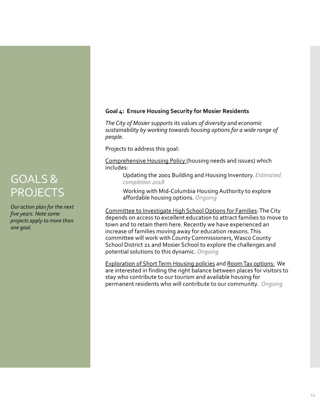 Read Mosier five-year strategic plan